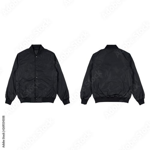 Cuadros en Lienzo Blank plain bomber jacket isolated on white background
