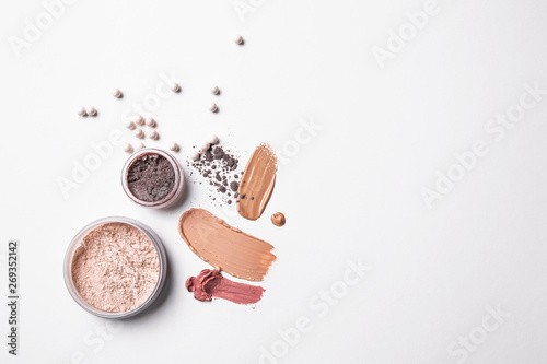 Obraz na plátne Different cosmetic products on light background