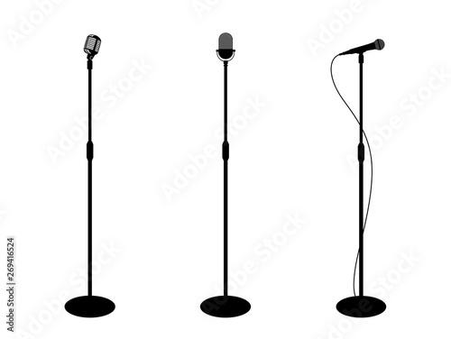Fotografia Three microphones on counter