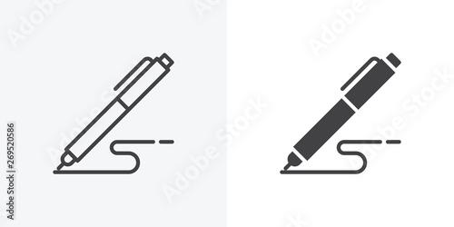 Leinwand Poster Pen, write icon
