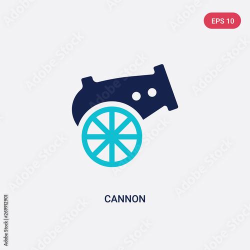 Carta da parati two color cannon vector icon from army concept