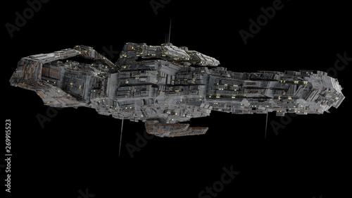 Fotografia Battleship Spaceship - side view.