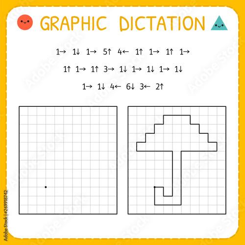 Slika na platnu Graphic dictation