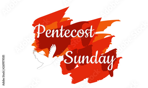 Obraz na płótnie Pentecost poster design for print or use as card, flyer or T shirt