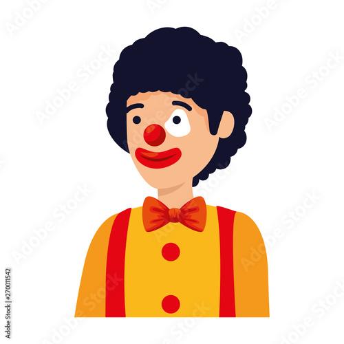 Fotografie, Obraz circus clown comic character vector illustration