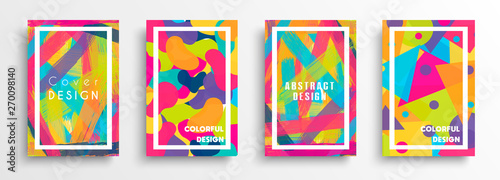 Abstract color background set for creative design