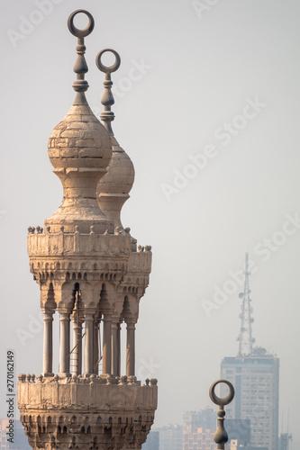Photo mosque minaret in Cairo Egypt