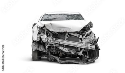 Fotografie, Obraz front side of crashed car from accident