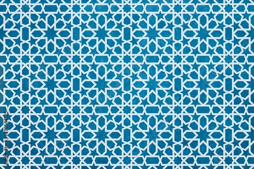 Wallpaper Mural oriental pattern bnackgorund, geometric morocco design