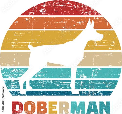 Slika na platnu Doberman vintage retro