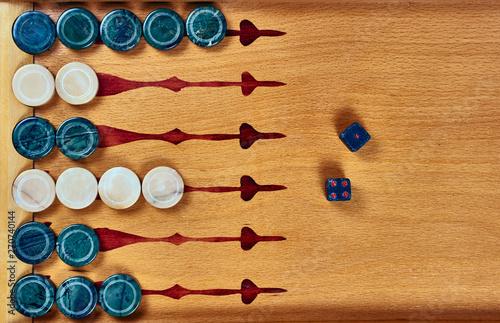 Murais de parede Backgammon game