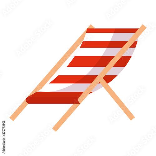 Canvas Print beach chair stripes relax icon