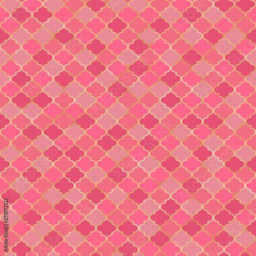 Fototapeta Quatrefoil Seamless Pattern - Classic quatrefoil repeating pattern design