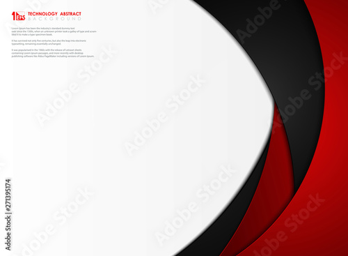 Abstract gradient red and black tech template background vector design. illustration vector eps10