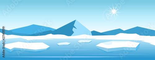 Fotografering Vector Iceberg landscape