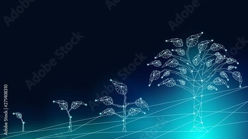 Fotografia, Obraz Background of business transformation innovation to digital disruption financial