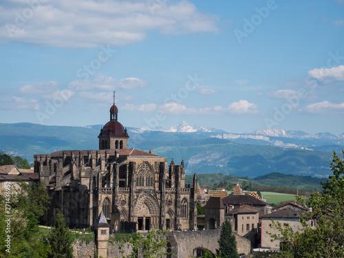 Stampa su Tela Saint Antoine l'Abbaye et chaîne du Vercors