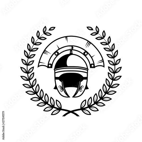 Fotografia roman centurion helmet vector illustration
