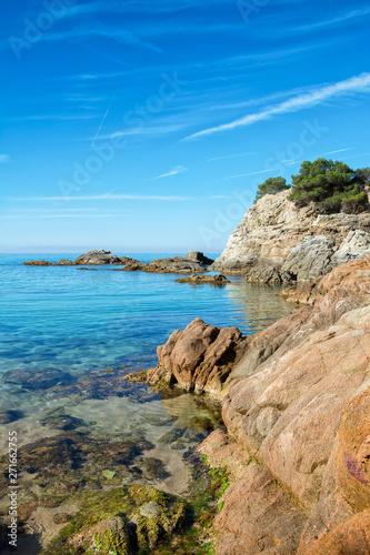 Foto Fanals Beach in Lloret de Mar, Costa Brava of Catalonia, Spain