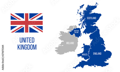 Foto United Kingdom map