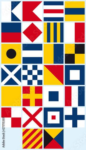 Canvas Print Vector international marine flags - alphabet