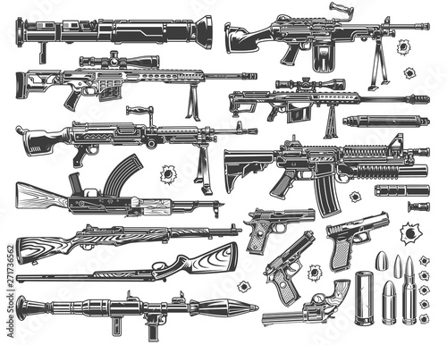 Fotografie, Obraz Vintage military elements set