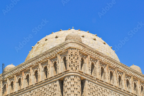 Canvas-taulu The Samanid mausoleum is located in the historical urban nucleus of the city of Bukhara, Uzbekistan