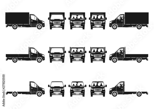 Truck silhouette Fototapeta
