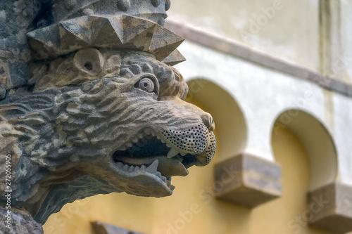 Fototapeta Gargoyles in the Pena Castle, Sintra, Lisbon District, in Portugal