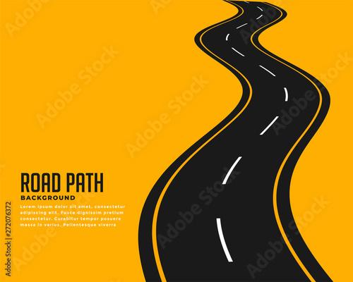Canvas Print curve winding roadway background design