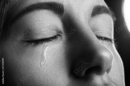 Obraz na plátně young girl crying