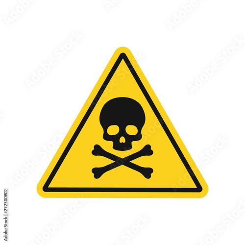 Valokuva Skull and bones danger sign. Vector. Isolated.