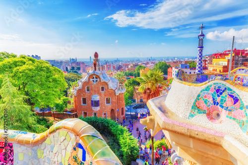 Fotografie, Tablou Barcelona, Spain, famous landmark Park Guell