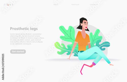 Canvas Print Medical foot prosthetics leg concept