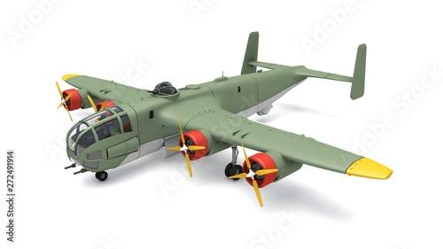 Fotografie, Obraz 3d illustration of Heavy Bomber