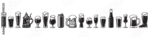 Canvas Print Beer glassware guide