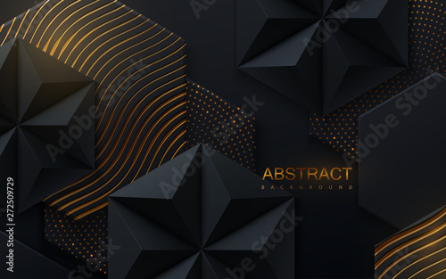 Fotografiet Abstract geometric background