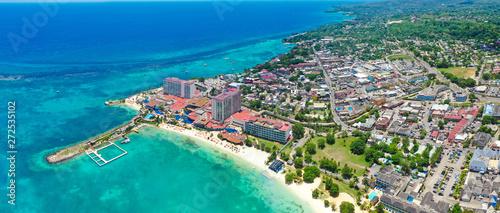 Fotografie, Obraz Beautiful Aerial Beach View