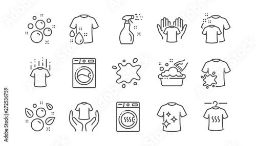 Fotografie, Obraz Laundry line icons