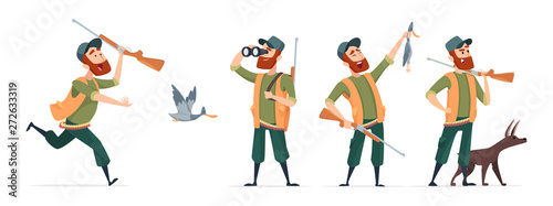 Fotografia, Obraz Cartoon hunters