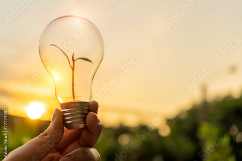 Canvas-taulu Ecology energy concept.