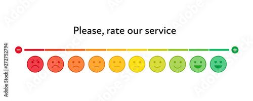 Fotografia Vector feedback survey template