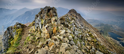 Canvas Print Crib Goch, early morning in May # 5&6