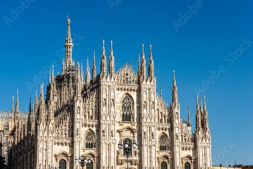 Obraz na plátně Duomo di Milano - Milan Cathedral - Lombardy Italy