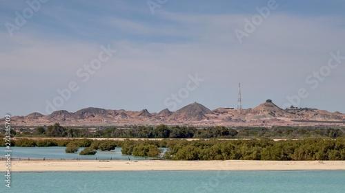 Foto île de Sir Bani Yas aux émirats arabes unis