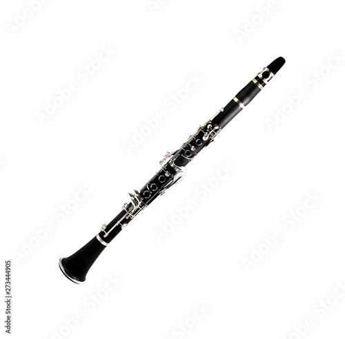 clarinet isolated on a white background Fototapeta