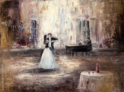 Canvas Print Dancing in the hall