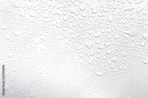 Naklejka na okno łazienkowe Krople deszczu na białym tle