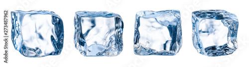 Valokuva Ice cube. Ice block. Isolated ice cubes set. Clipping path