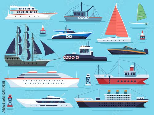 Obraz na płótnie Maritime ships flat
